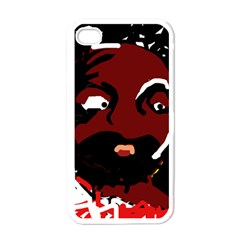 Abstract face  Apple iPhone 4 Case (White)