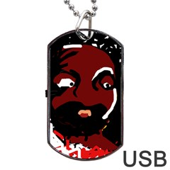 Abstract face  Dog Tag USB Flash (Two Sides)