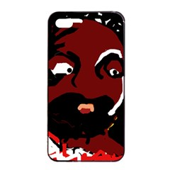 Abstract face  Apple iPhone 4/4s Seamless Case (Black)