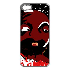 Abstract face  Apple iPhone 5 Case (Silver)