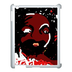 Abstract face  Apple iPad 3/4 Case (White)
