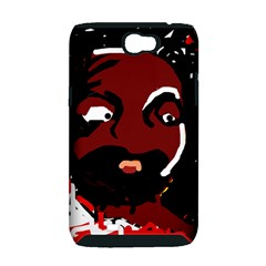 Abstract face  Samsung Galaxy Note 2 Hardshell Case (PC+Silicone)