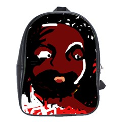 Abstract face  School Bags (XL)