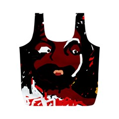 Abstract face  Full Print Recycle Bags (M)