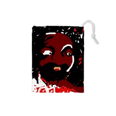 Abstract face  Drawstring Pouches (Small)
