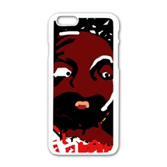 Abstract face  Apple iPhone 6/6S White Enamel Case