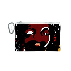 Abstract face  Canvas Cosmetic Bag (S)