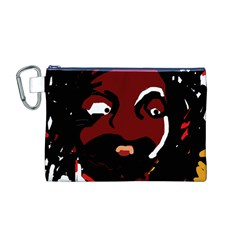 Abstract face  Canvas Cosmetic Bag (M)