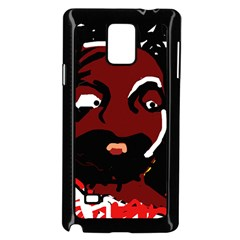 Abstract face  Samsung Galaxy Note 4 Case (Black)