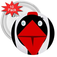 Duck 3  Buttons (10 pack)