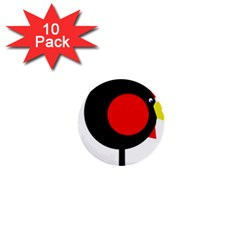 Fat chicken 1  Mini Buttons (10 pack)
