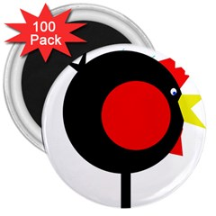 Fat chicken 3  Magnets (100 pack)