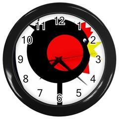 Fat chicken Wall Clocks (Black)