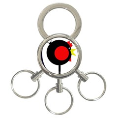 Fat chicken 3-Ring Key Chains