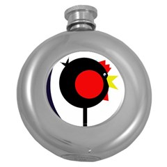 Fat chicken Round Hip Flask (5 oz)