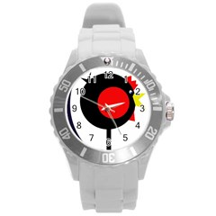 Fat chicken Round Plastic Sport Watch (L)