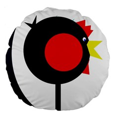 Fat chicken Large 18  Premium Flano Round Cushions