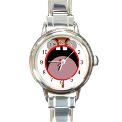 Funny face Round Italian Charm Watch