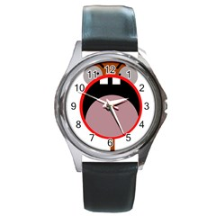 Funny face Round Metal Watch