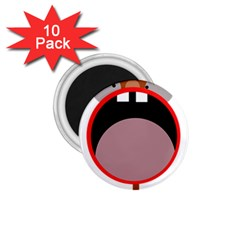 Funny face 1.75  Magnets (10 pack)