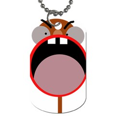 Funny face Dog Tag (One Side)