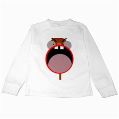 Funny face Kids Long Sleeve T-Shirts