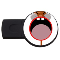 Funny face USB Flash Drive Round (4 GB)