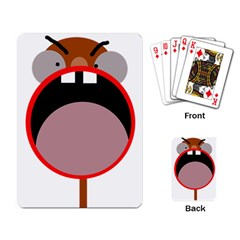 Funny face Playing Card