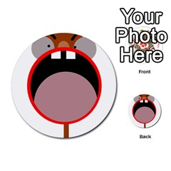 Funny face Multi-purpose Cards (Round)