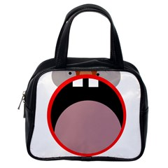 Funny face Classic Handbags (One Side)