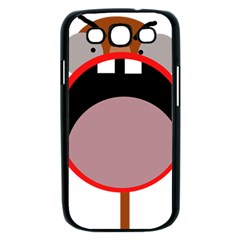 Funny face Samsung Galaxy S III Case (Black)
