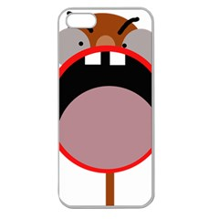 Funny face Apple Seamless iPhone 5 Case (Clear)