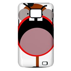 Funny face Samsung Galaxy S II i9100 Hardshell Case (PC+Silicone)