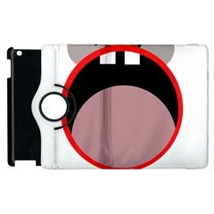Funny face Apple iPad 3/4 Flip 360 Case