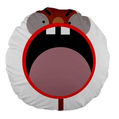 Funny face Large 18  Premium Round Cushions