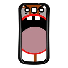Funny face Samsung Galaxy S3 Back Case (Black)