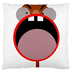 Funny face Standard Flano Cushion Case (One Side)