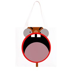 Funny face Grocery Light Tote Bag