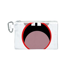 Funny face Canvas Cosmetic Bag (S)