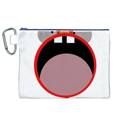 Funny face Canvas Cosmetic Bag (XL)
