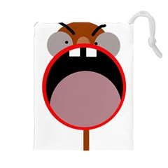 Funny face Drawstring Pouches (Extra Large)