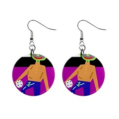 Goalkeeper Mini Button Earrings