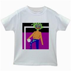 Goalkeeper Kids White T-Shirts