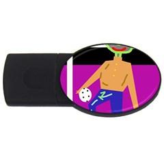 Goalkeeper USB Flash Drive Oval (2 GB)