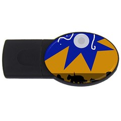 Decorative abstraction USB Flash Drive Oval (2 GB)
