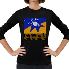 Decorative abstraction Women s Long Sleeve Dark T-Shirts