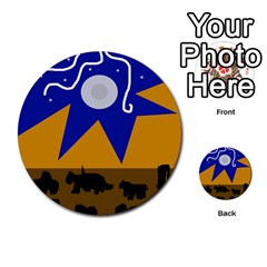 Decorative abstraction Multi-purpose Cards (Round)