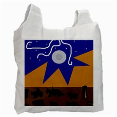 Decorative abstraction Recycle Bag (One Side)