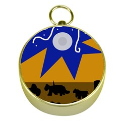 Decorative abstraction Gold Compasses