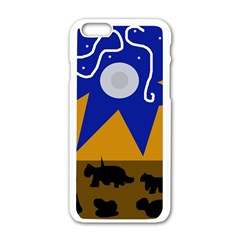 Decorative Abstraction Apple Iphone 6/6s White Enamel Case